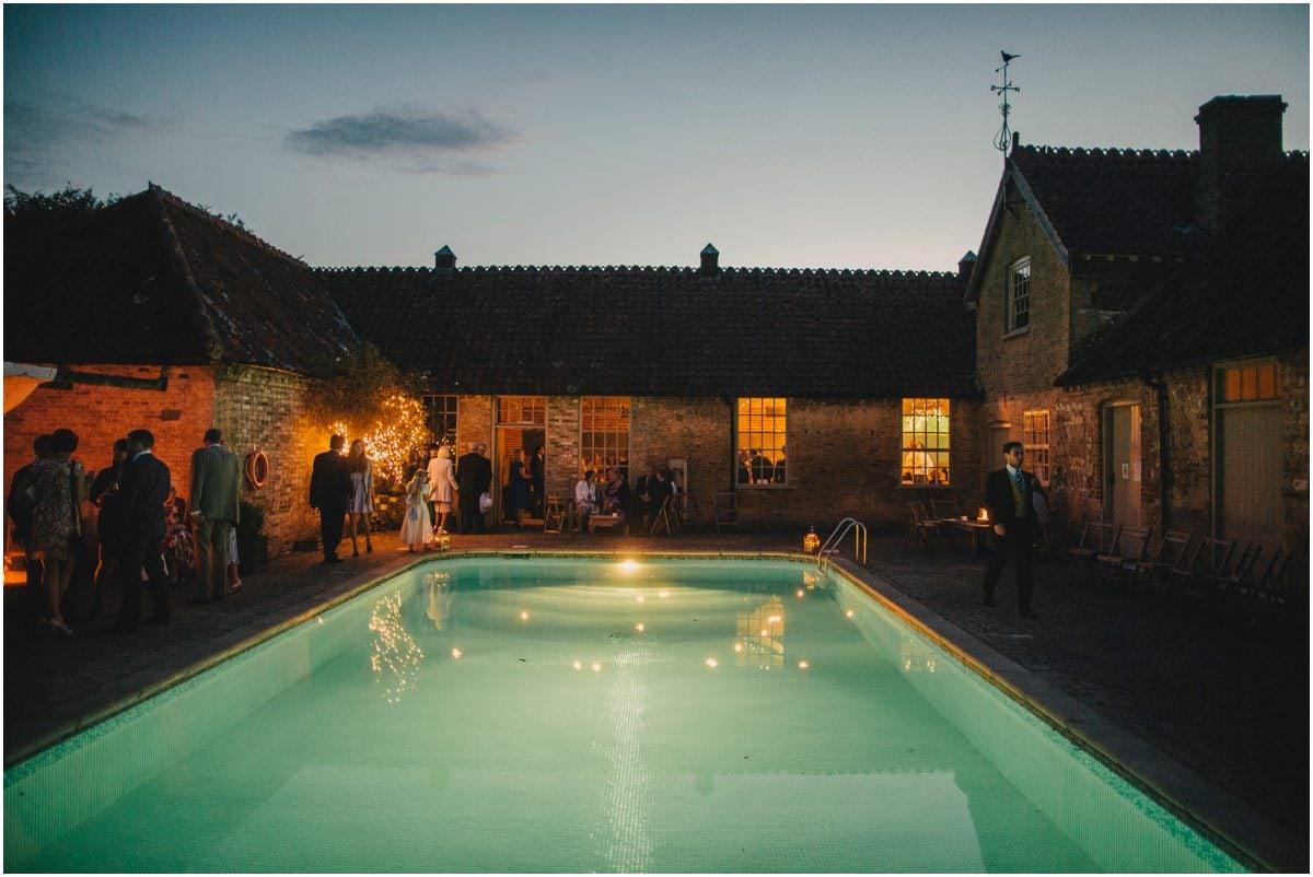 Pool house wedding