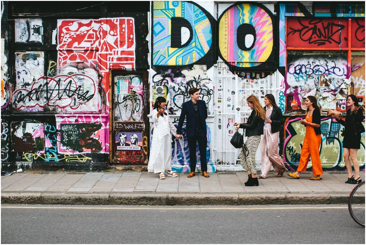 East london hipster wedding photography