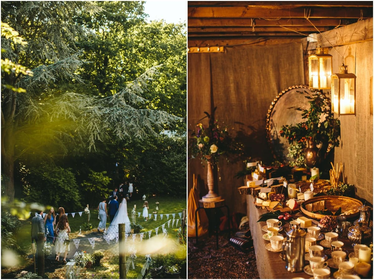 Diy garden wedding photography