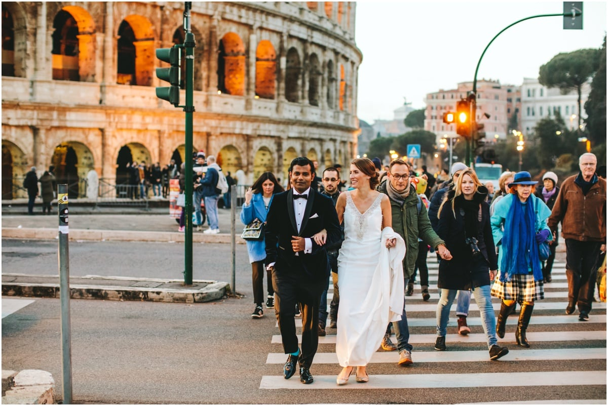 colosseum wedding photos